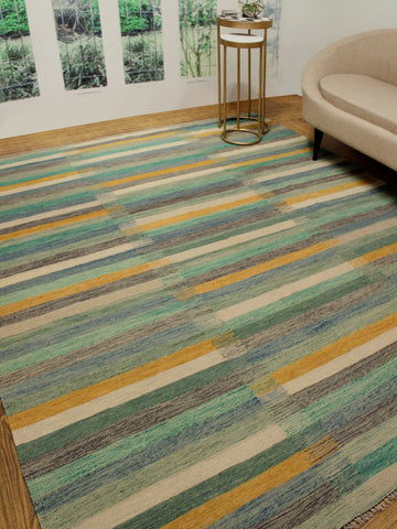 "Winchester Omid Beige/Green Rug, 8'2"" x 9'8"""