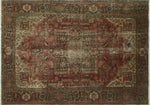 "Fine VTG Antonio Brown/Rose Rug, 8'0"" x 11'0"""