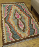 "Sangat Alfredo Blue/Brown Rug, 3'3"" x 5'0"""
