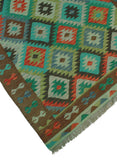 "Sangat Maci Green/Brown Rug, 4'7"" x 6'5"""