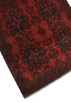 "Khal Mohammadi Arley Red/Black Rug, 3'3"" x 4'11"""
