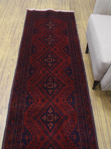 "Khal Mohammadi Behiye Red/Black Runner, 2'8"" x 9'3"""