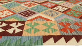 "Sangat Parveen Green/Brown Runner, 2'9"" x 9'7"""