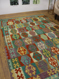 "Sangat Latife Rust/Green Rug, 6'0"" x 7'9"""