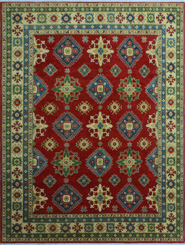 "Kazak Winter Red/Beige Rug, 8'2"" x 10'2"""