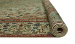 "Fine VTG Wacleah Ivory/Red Rug, 9'0"" x 12'2"""