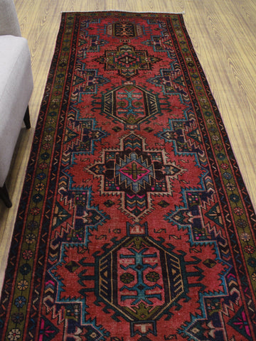 "Semi Antique Farrin Rose/Gold Runner, 3'6"" x 12'2"""