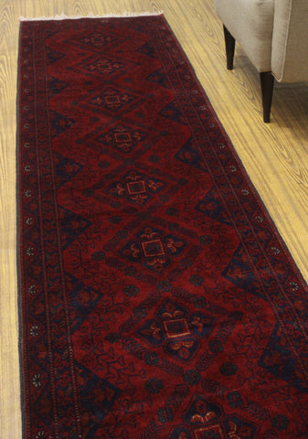 "Khal Mohammadi Aileen Red/Black Runner, 2'7"" x 9'5"""