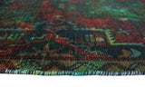 "Vintage Sharif Rust/Navy Rug, 2'8"" x 3'4"""