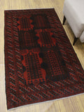 "Vintage Asmaa Red/Brown Rug, 3'6"" x 6'0"""