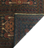 "Vintage Rylee Black/Brown Rug, 3'8"" x 6'8"""