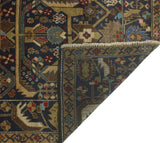 "Vintage Marlie Blue/Brown Rug, 3'9"" x 6'11"""