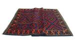 "Semi Antique Aimzhan Blue/Red Rug, 3'3"" x 4'8"""