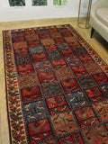 "Semi Antique Jaymes Red/Ivory Runner, 4'9"" x 9'1"""