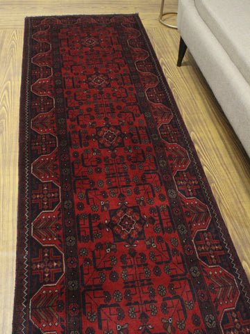 "Khal Mohammadi Aitana Red/Black Runner, 2'8"" x 9'6"""