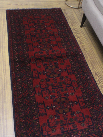 "Khal Mohammadi Dena Red/Black Runner, 2'7"" x 6'4"""