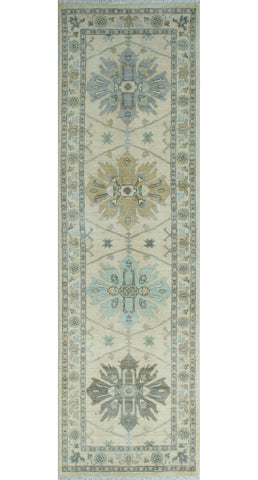 "Yousafi Effie Ivory/Grey Runner, 2'7"" x 8'9"""