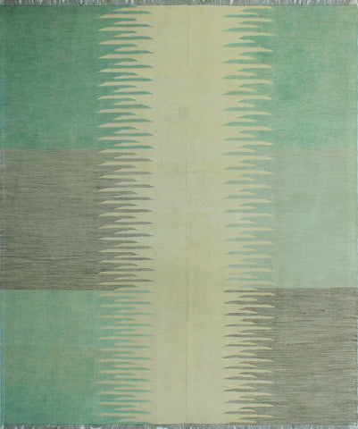 "Winchester Thema Ivory/Lt. Green Rug, 8'5"" x 9'8"""