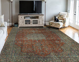 "Semi Antique Amarisi Rust/Charcoal Rug, 9'0"" x 13'3"""