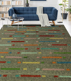 "Winchester Damira Charcoal/Blue Rug, 9'10"" x 12'8"""