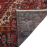 "Semi Antique Johnny Red/Charcoal Rug, 8'8"" x 11'1"""