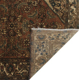 "Semi Antique Tayson Brown/Beige Runner, 3'2"" x 8'10"""