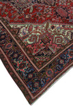 "Semi Antique Dementia Red/Navy Rug, 8'0"" x 10'9"""