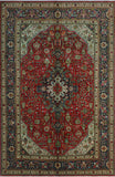 "Fine Semi Antique Wakeman Red/Navy Rug, 6'6"" x 9'10"""