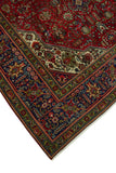 "Fine Semi Antique Adawi Red/Navy Rug, 6'6"" x 9'6"""