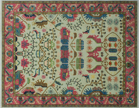 "Aria Cenk Ivory/Pink Rug, 8'1"" x 10'6"""