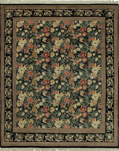 Wali Vayle Black/Red Rug, 8'0 x 9'11
