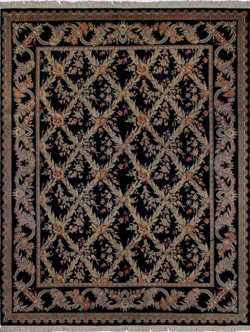 Wali Upchurch Black/Rose Rug, 8'3 x 10'6