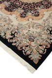 "Wali Zafar Black/Bone Grey Rug, 9'2"" x 12'5"""