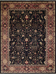 "Peshawar Rahul Black/Purple Rug, 9'1"" x 12'0"""
