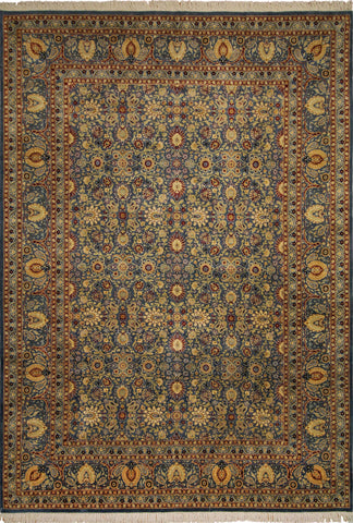 Wali Yosun Lt. Blue/Red Rug, 8'0 x 9'11