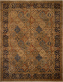"Ankara Charity Green/Navy Rug, 9'4"" x 12'2"""