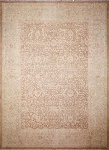 "Sun-Faded Jazira Lt. Brown/Lt. Blue Rug, 9'10"" x 13'4"""