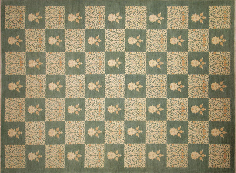 "Sun-Faded Jupar Green/Rust Rug, 9'10"" x 13'9"""