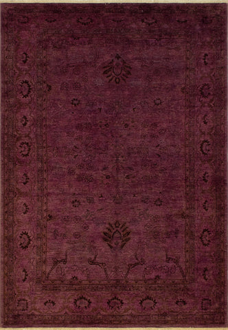 Overdyed Lillianna Purple/Purple Rug, 6'5 x 9'1