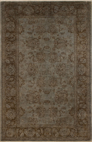 Overdyed Hailee Grey/Brown Rug, 5'5 x 8'2