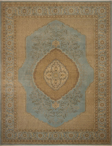 "Ankara Marina Green/Brown Rug, 9'2"" x 12'2"""