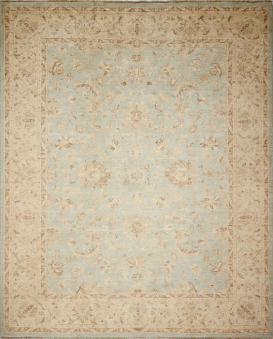"Sun-Faded Lazeeez Green-Blue/Beige Rug, 9'0"" x 10'4"""