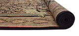 "Wali Reshami Rumal Black/Brown Rug, 9'3"" x 12'5"""