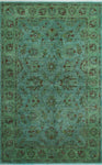 "Overdyed Imad Blue/Green Rug, 3'11"" x 5'5"""