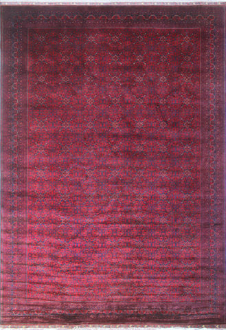 "Khamyab Awesta Red/Blue Rug, 12'10"" x 19'0"""