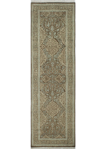 "Ankara Izabella Brown/Grey Runner, 3'0"" x 9'8"""