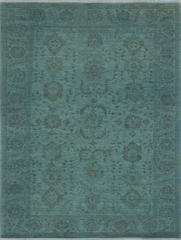 "Overdyed Rasoul Blue-Grey/Brown Rug, 5'9"" x 7'7"""