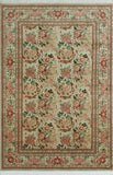 "William Basarabian Lt. Grey/Red Rug, 5'11"" x 9'1"""