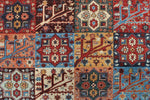 "Aria Nasrat Rusty-Red/Blue Rug, 8'2"" x 9'10"""
