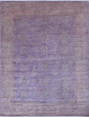 Overdyed Wacfeld Purple/Brown Rug, 8'11 x 11'9